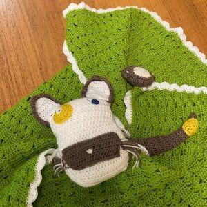 HANDMADE crochet baby blanket